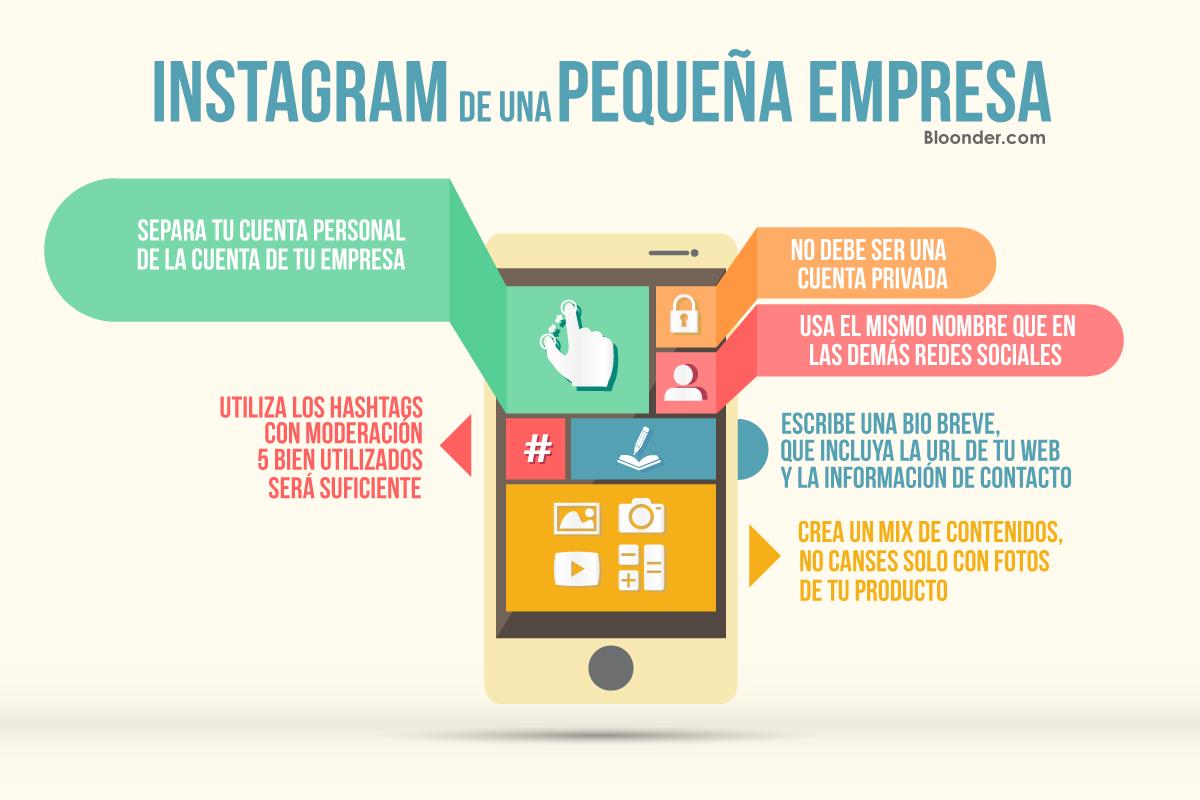 infografia instagram para pymes