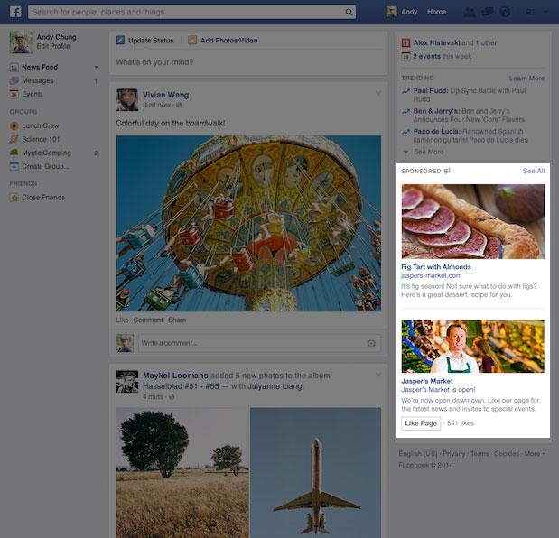 nuevos formatos de anuncio facebook