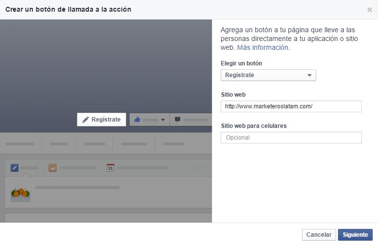 boton call to action facebook
